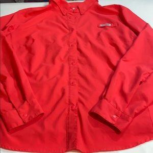 Columbia PFG fishing shirt L-XL no size tag